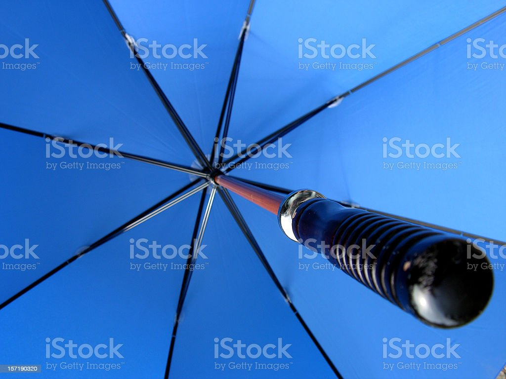 Umbrella in the sky royalty-free stock photo