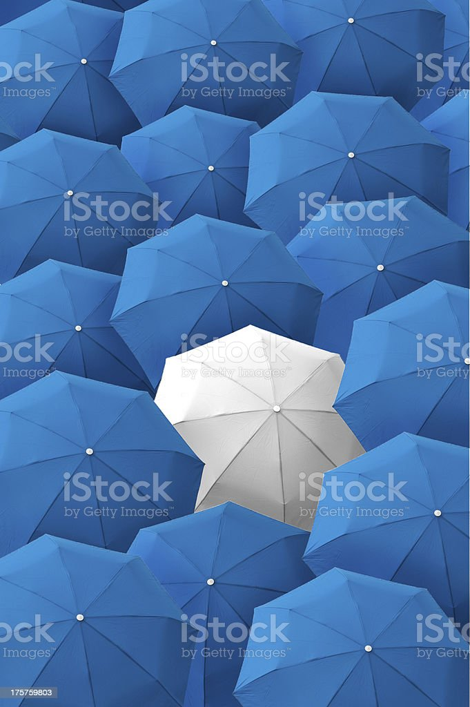 Umbrella, leader, unique, boss, individuality, original, special. royalty-free stock photo