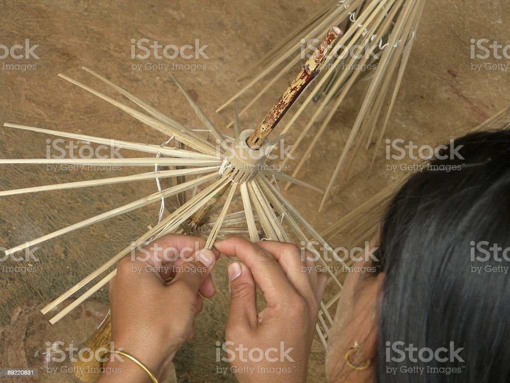 Umbrella manufacturer 02 royalty-free stock photo