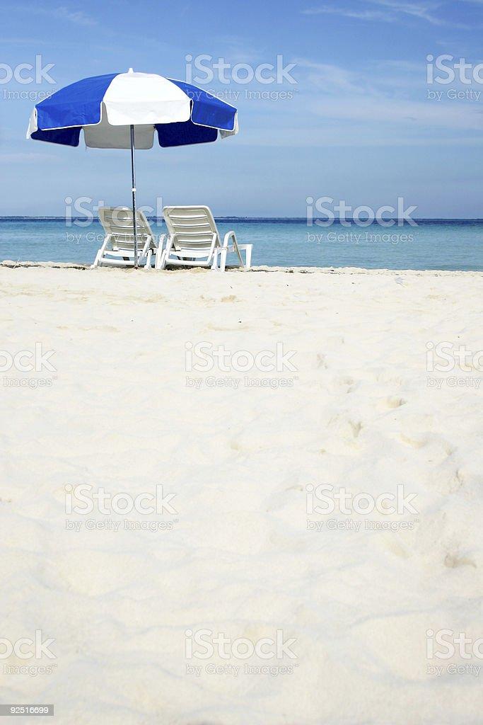 Umbrella on Beach royalty-free stock photo