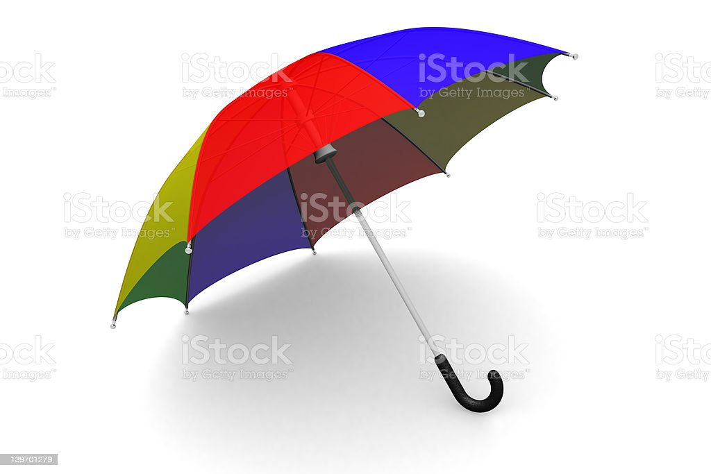 Umbrella on the ground royalty-free stock vector art