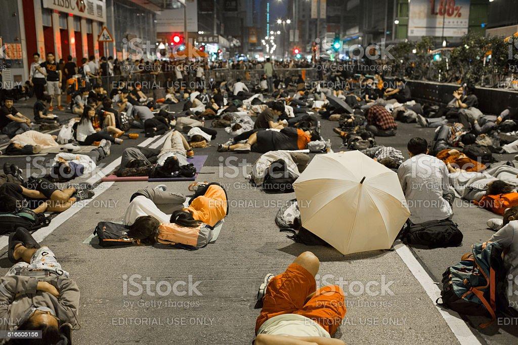 umbrella revolution stock photo