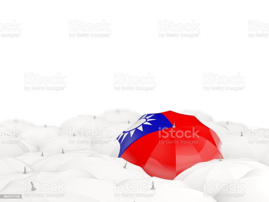 Umbrella with flag of taiwan stock photo