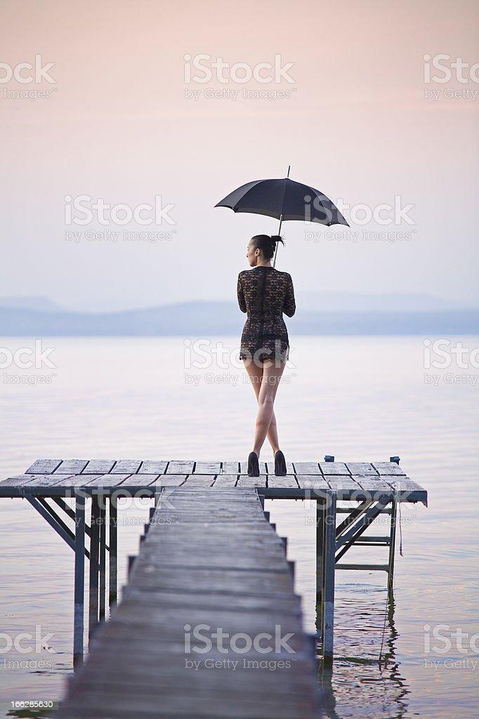 Umbrella Women stock photo