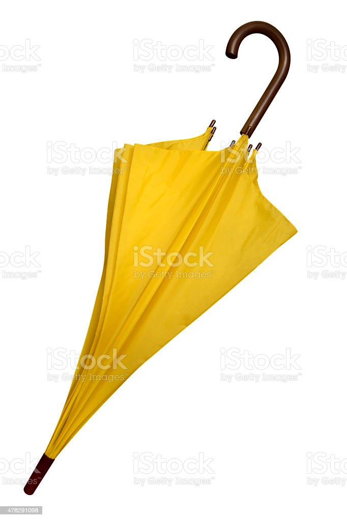 Umbrella - Yellow isolated stock photo