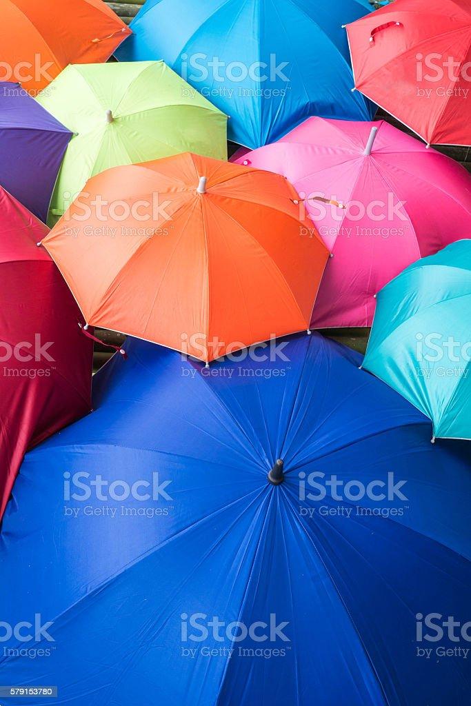 umbrellas coloring stock photo