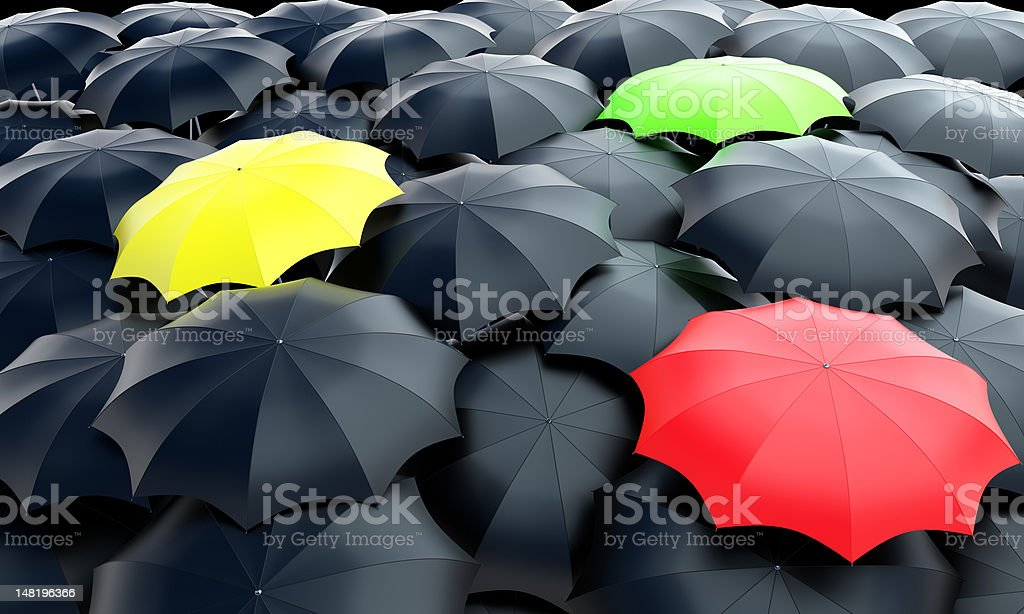 umbrellas field royalty-free stock photo