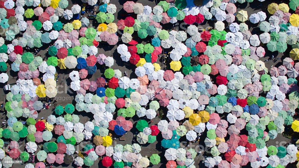 Umbrellas. stock photo