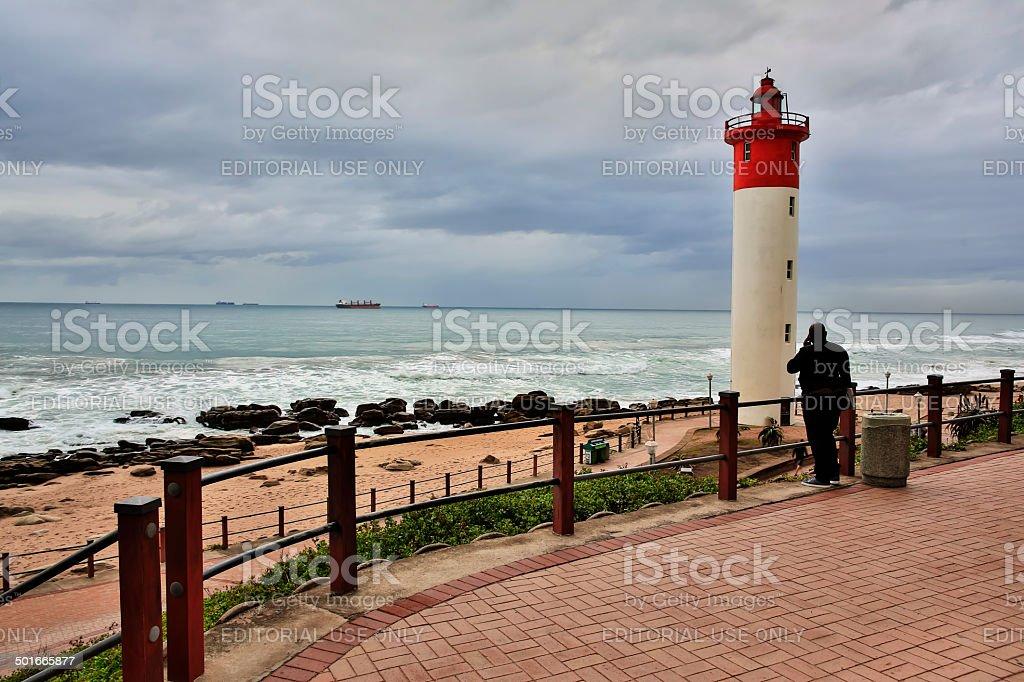 Umhlanga Lighthouse royalty-free stock photo