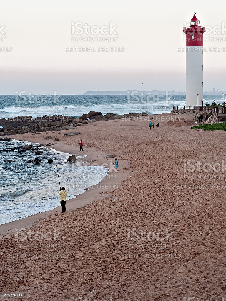 Umhlanga Rocks beachfront stock photo