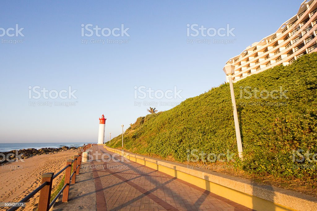 Umhlanga Rocks in Durban, South Africa stock photo