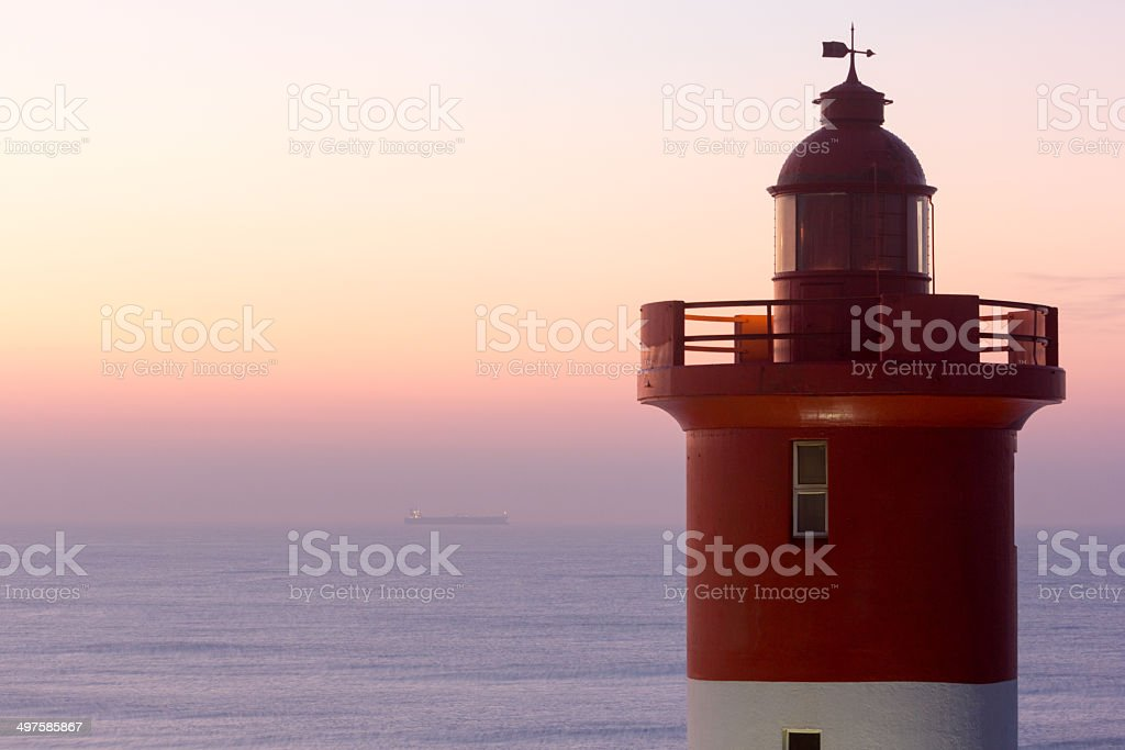 Umhlanga Rocks Lighthouse in Durban, South Africa stock photo