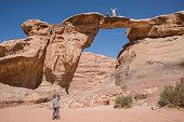 Umm Fruth Arch in the Wadi Rum desert