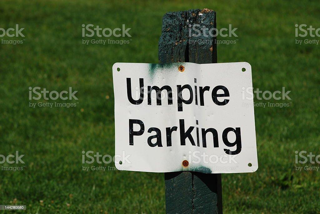 Umpire Parking royalty-free stock photo