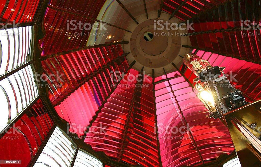 Umpqua Lighhouse Prism stock photo