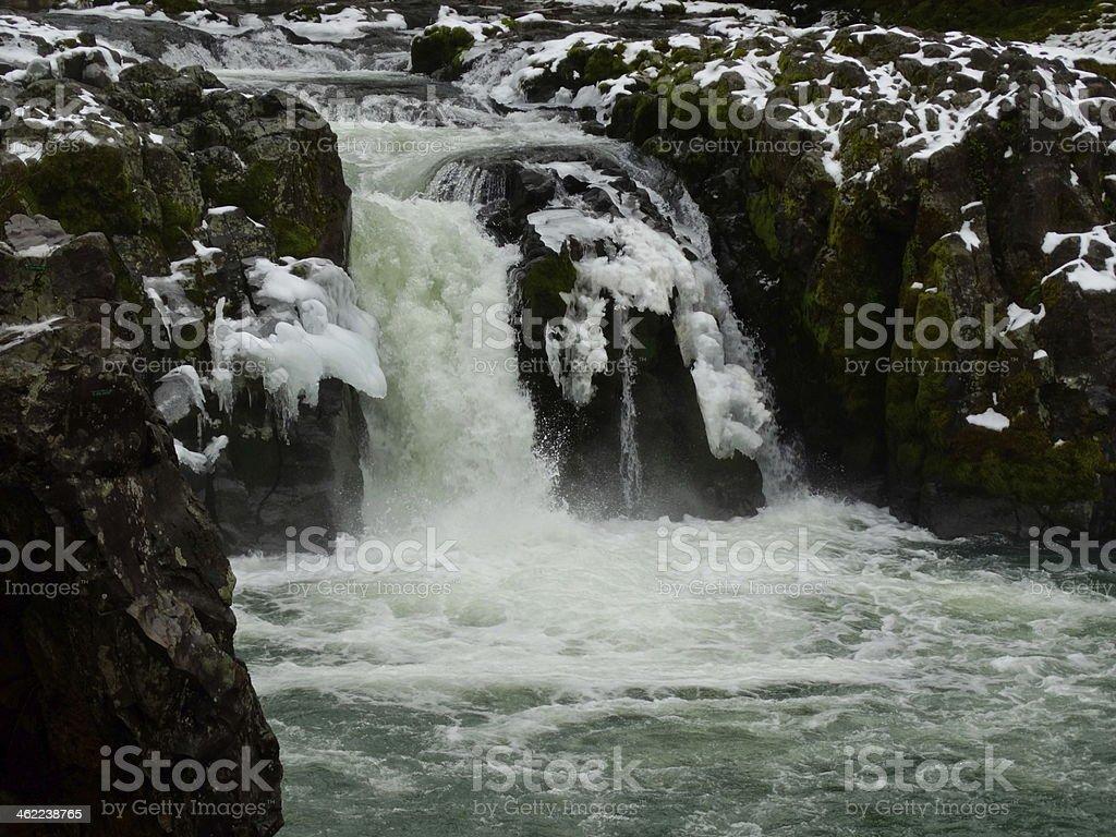 Umpqua National Forest Winter stock photo