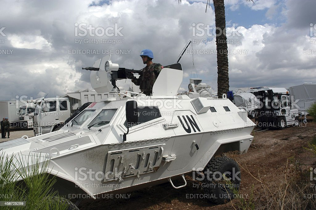 Un Camp in Lebanon stock photo