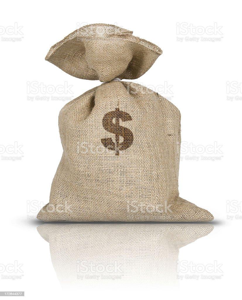 Un sacco di dollari royalty-free stock photo