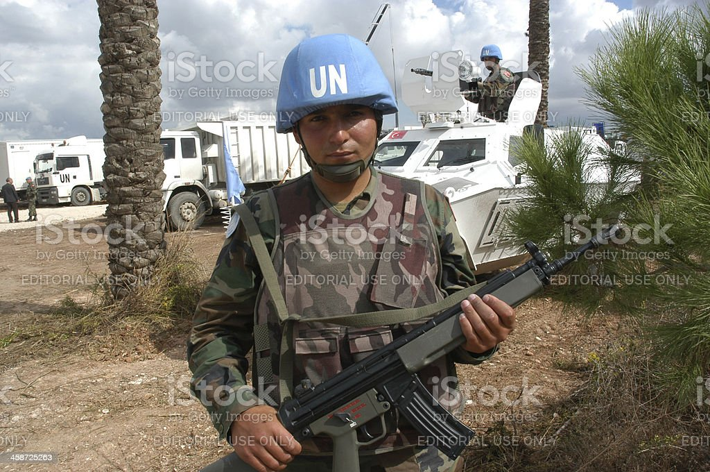 Un Soldiers stock photo