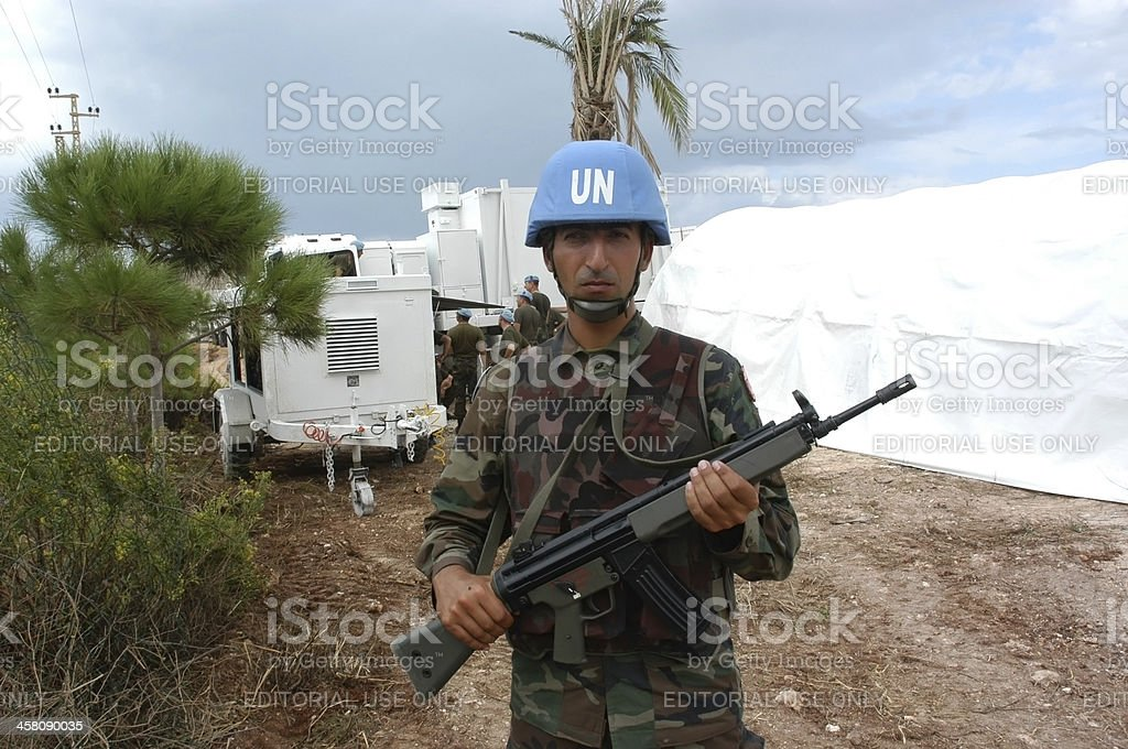 Un Turkish Soldier stock photo