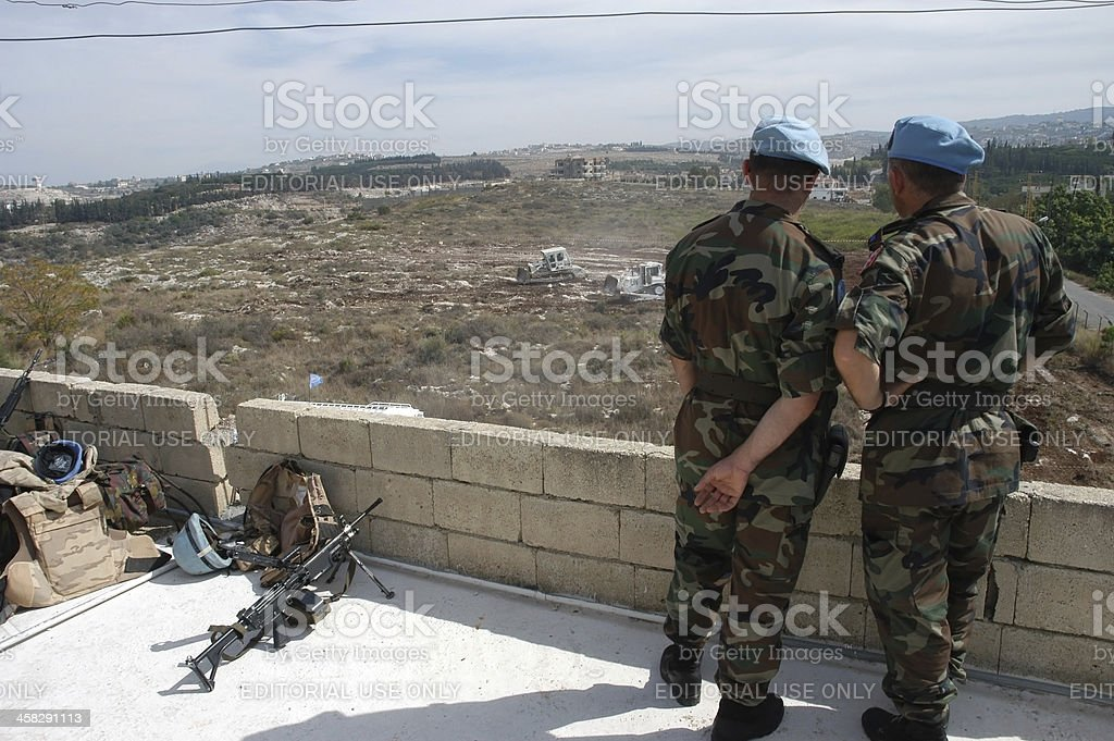 Un Turkish Soldiers stock photo