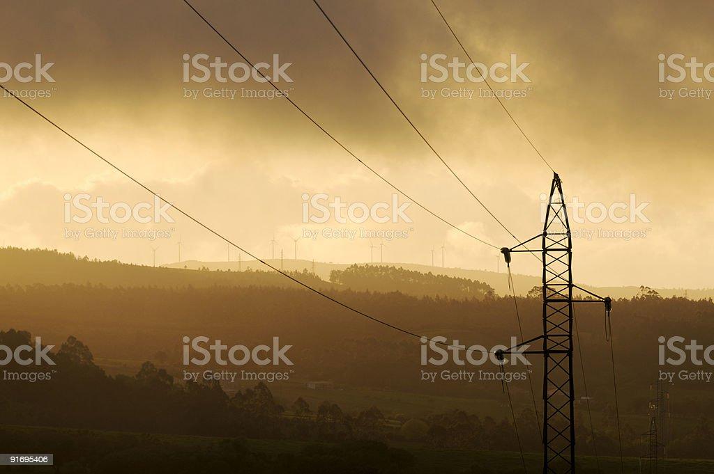 Una torre llena de energia royalty-free stock photo