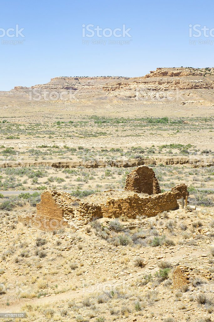 Una Vida Ruins - Chaco Culture National Historical Park royalty-free stock photo