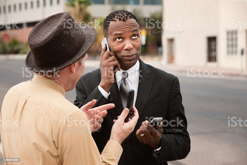 Unable to Make a Call stock photo