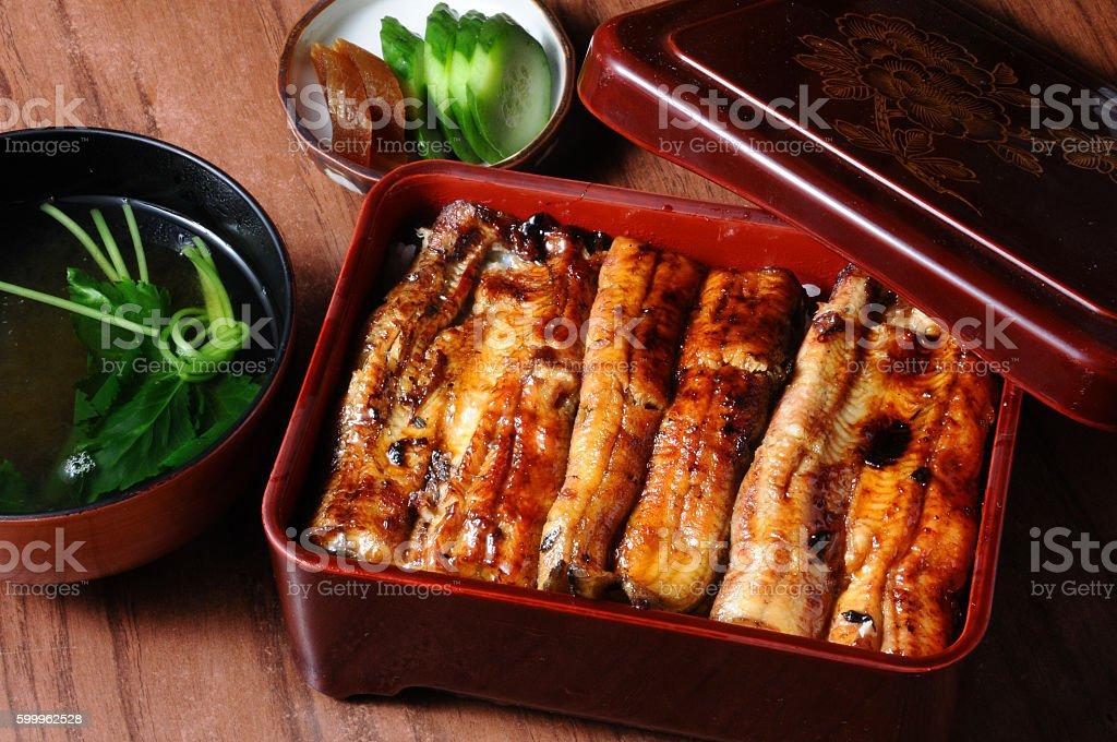 Unadon,Eel bowl stock photo
