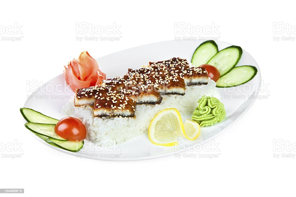 unagi sashimi royalty-free stock photo