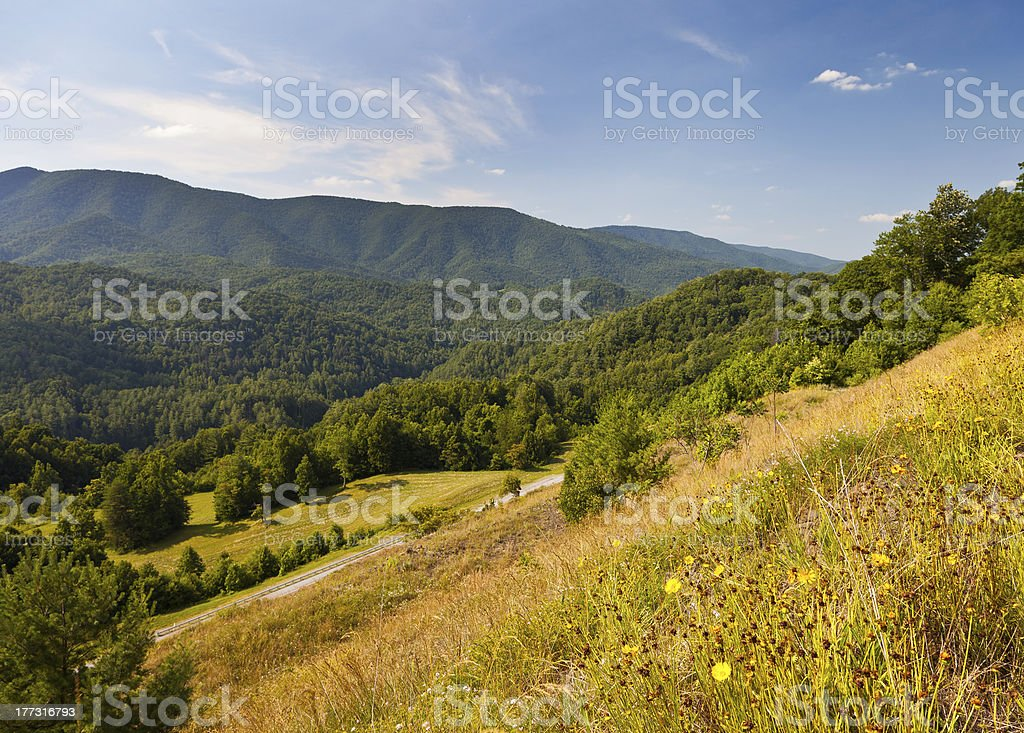 Unaka Mountains royalty-free stock photo