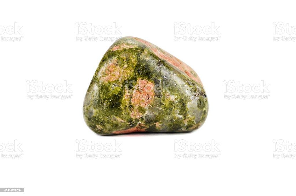 Unakite gemstone stock photo
