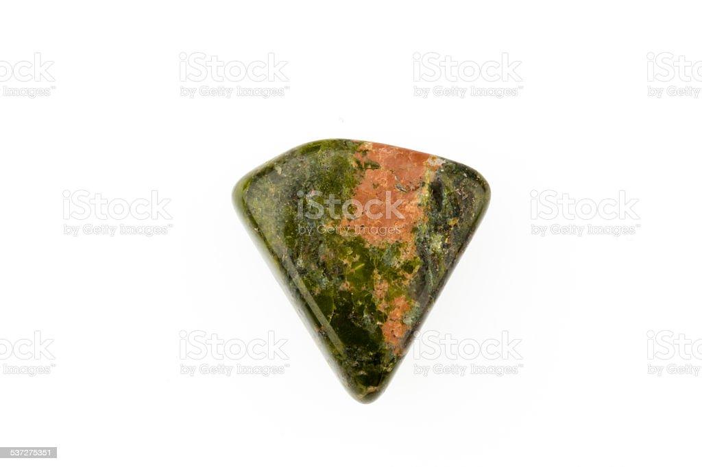 Unakite natural gemstone stock photo