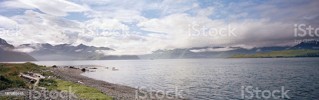 Unalaska Bay, Dutch Harbor, Alaska royalty-free stock photo