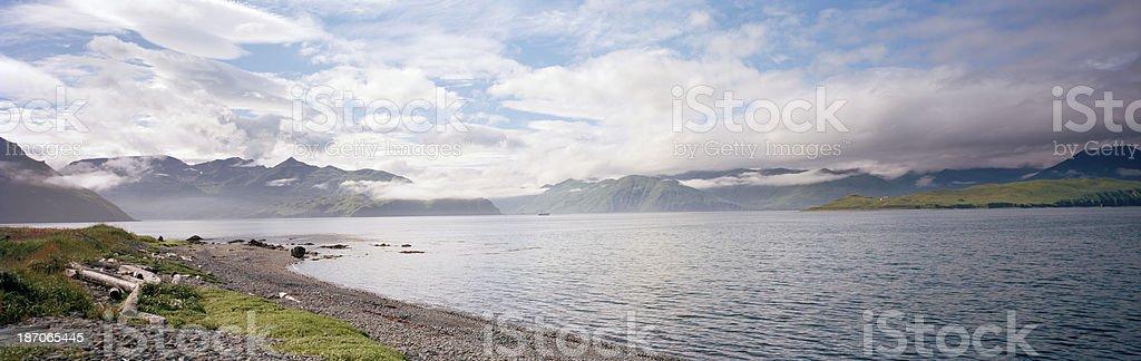 Unalaska Bay, Dutch Harbor, Alaska stock photo