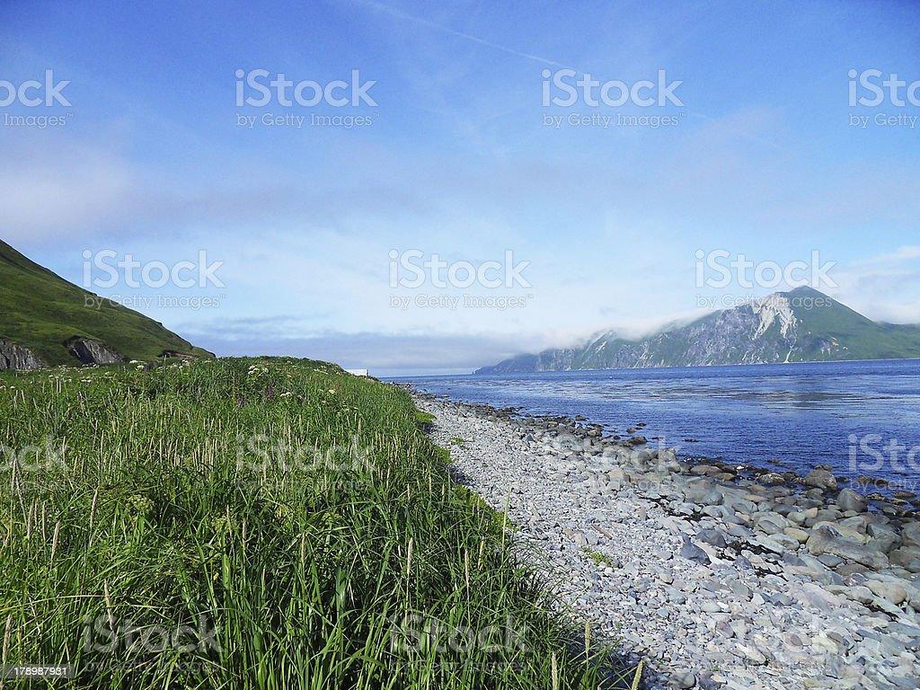 Unalaska , Dutch Harbor stock photo