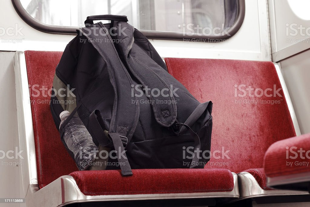 Unattended Backpack stock photo