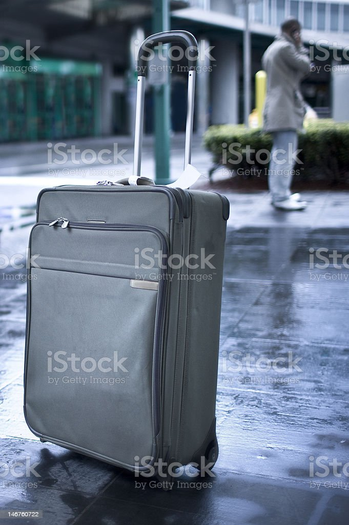 Unattended baggage stock photo
