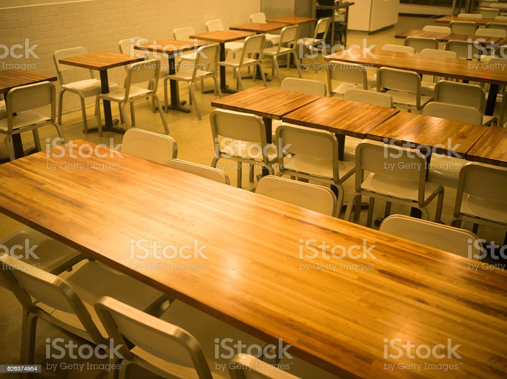 Unattended cafe stock photo