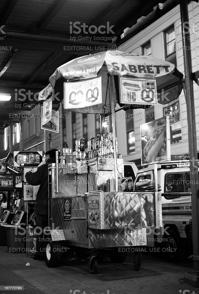 Unattended Hot Dog Cart royalty-free stock photo