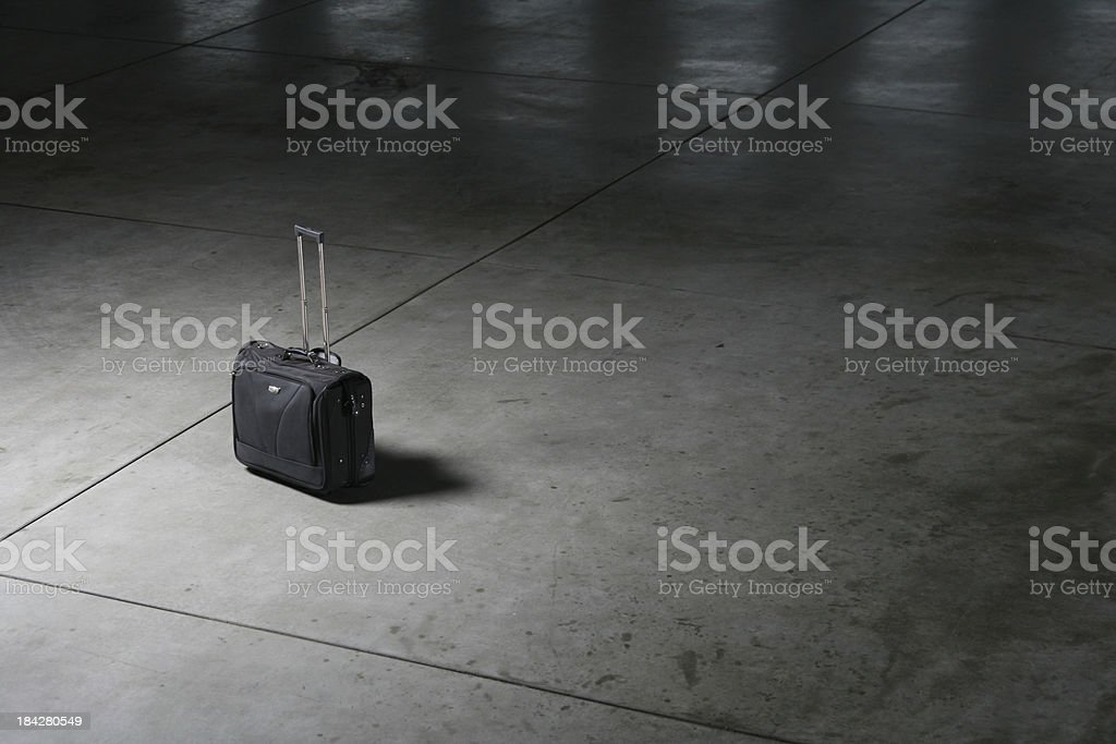 Unattended Luggage stock photo