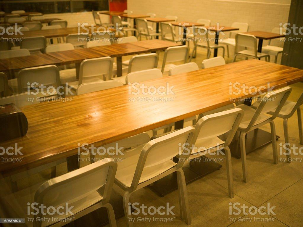 Unattended restaurants stock photo
