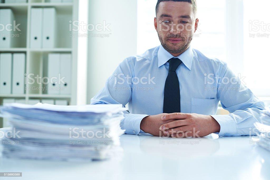 Unavoidable paperwork stock photo