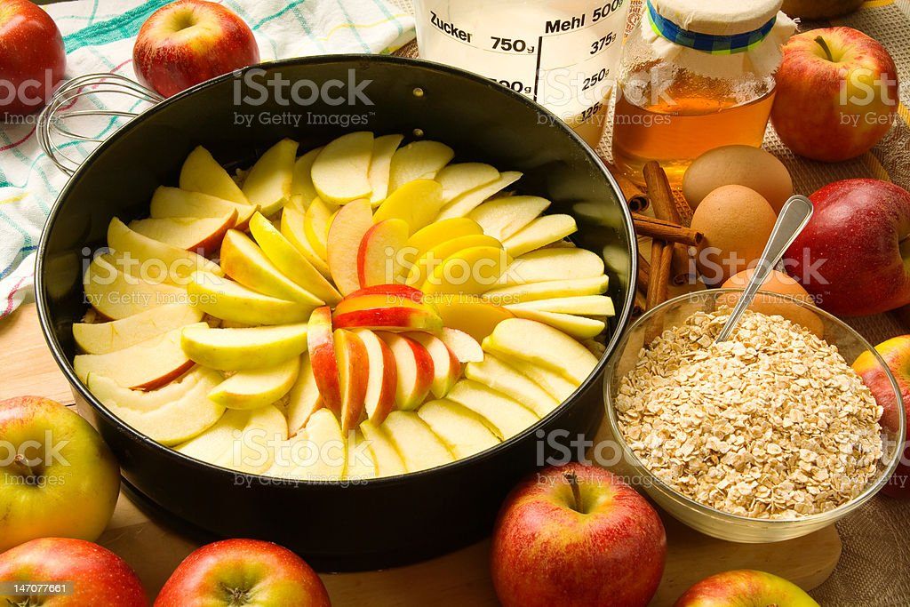 Unbaked apple pie royalty-free stock photo