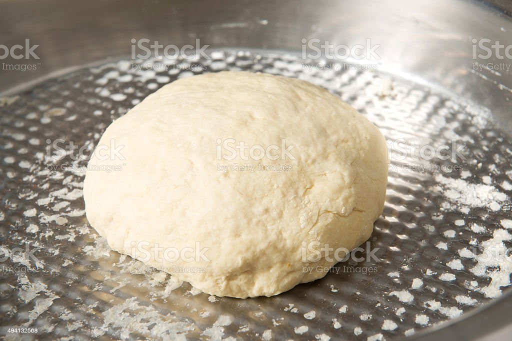 Unbaked Boule Dough stock photo