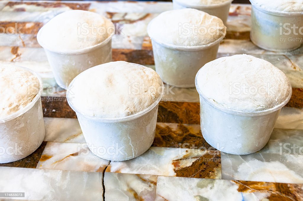 Unbaked Bread Dough Ready To Go Into The Oven royalty-free stock photo