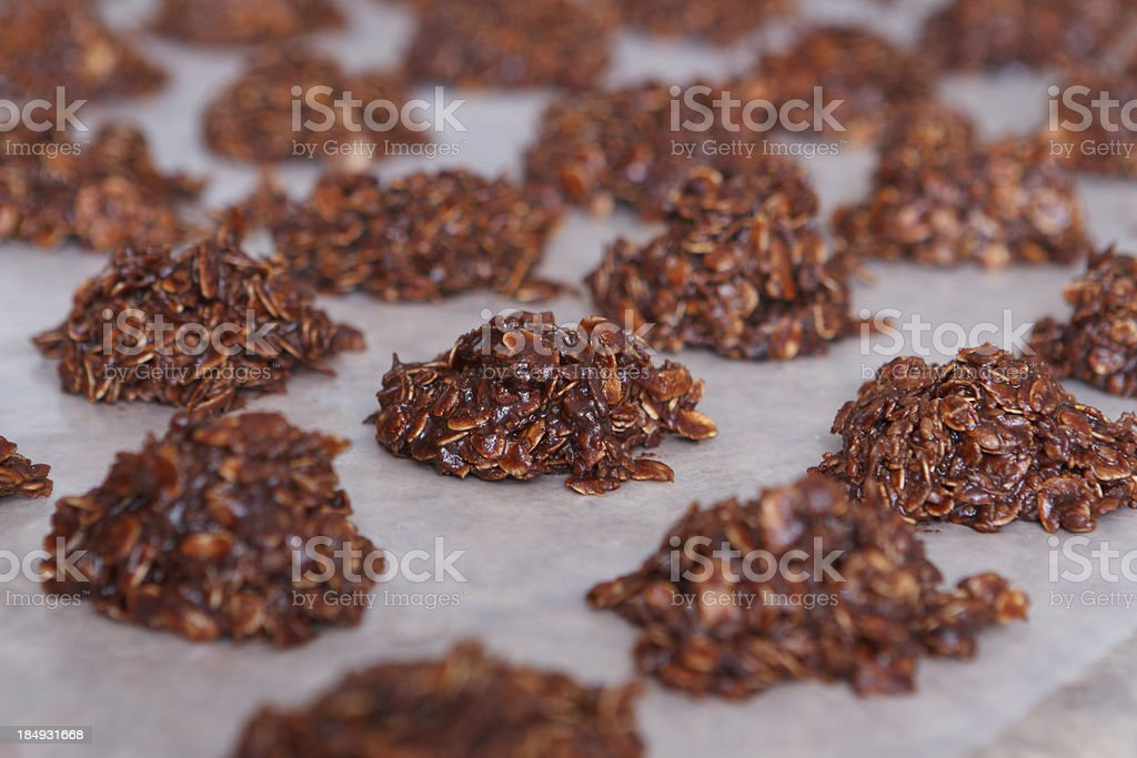 Unbaked Chocolate Cookies Cooling stock photo