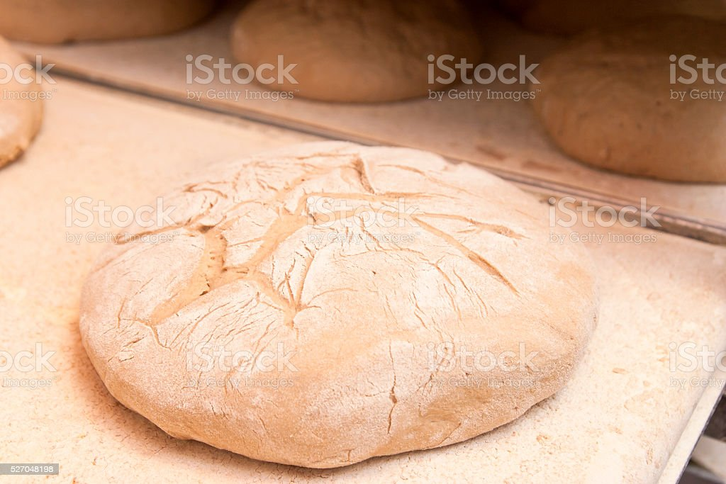 Unbaked Farmers Bread stock photo