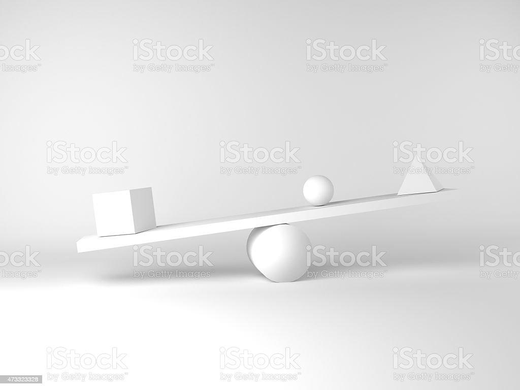 Unbalanced figures stock photo