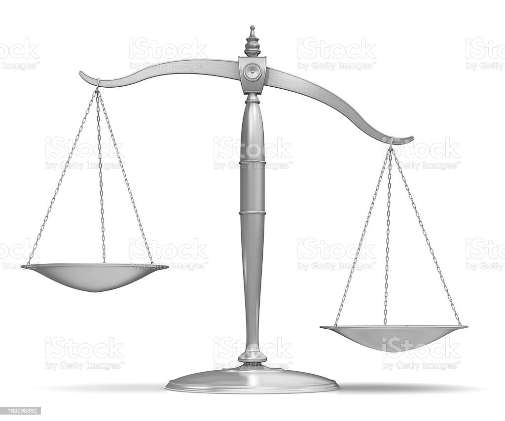 unbalanced scale stock photo